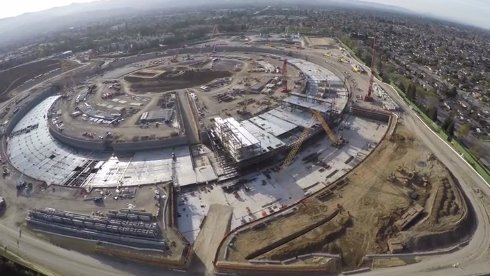 Космическую штаб квартиру Apple сняли с помощью дрона