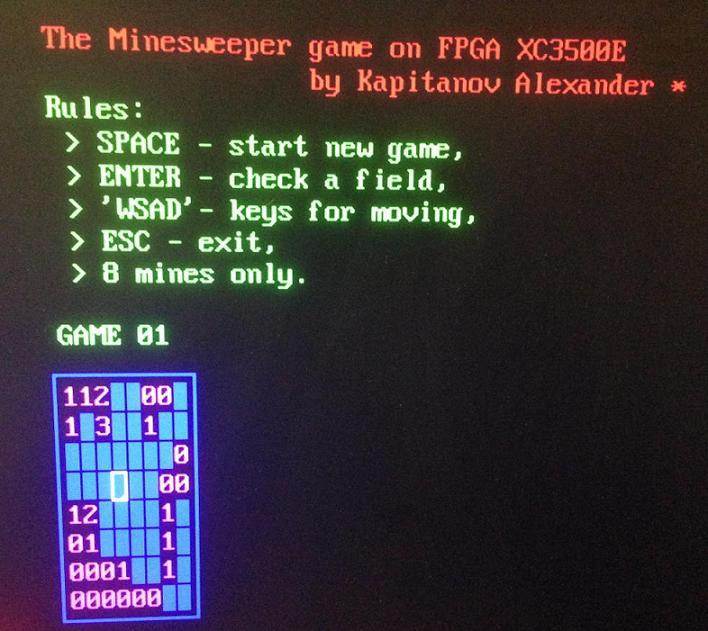 Minesweeper на FPGA - 8