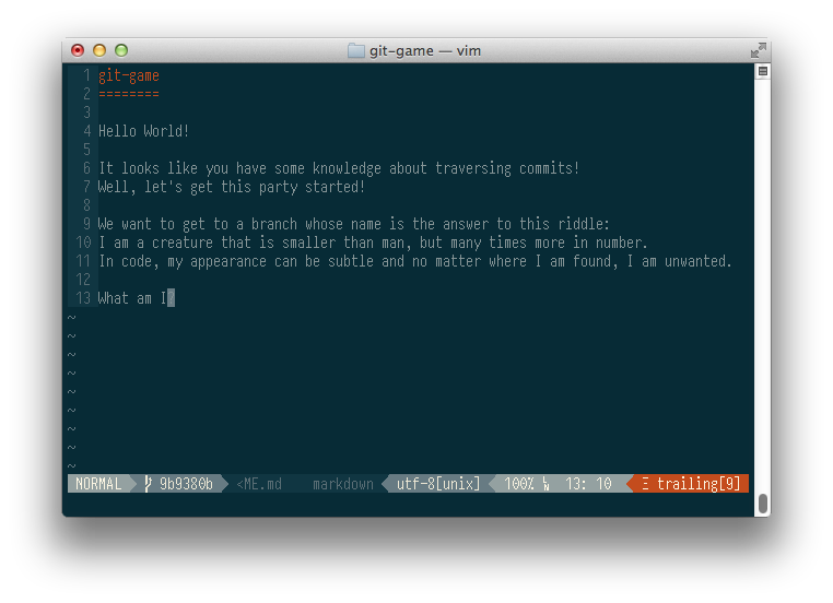 Git game или в поисках Линуса Торвальдса - 1
