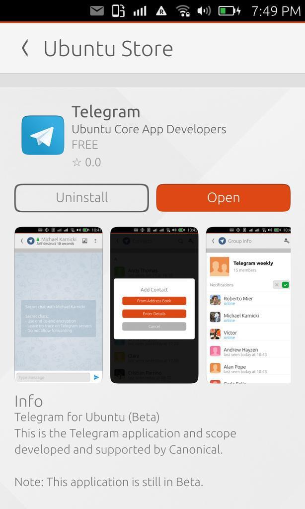 «Телеграм» стал дефолтным мессенджером на Ubuntu Phone - 2