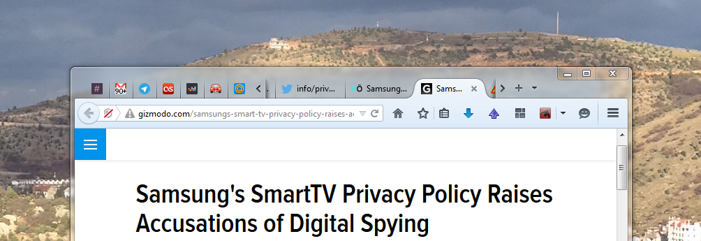Gizmodo.com Samsung's SmartTV Privacy Policy Raises Accusations of Digital Spying
