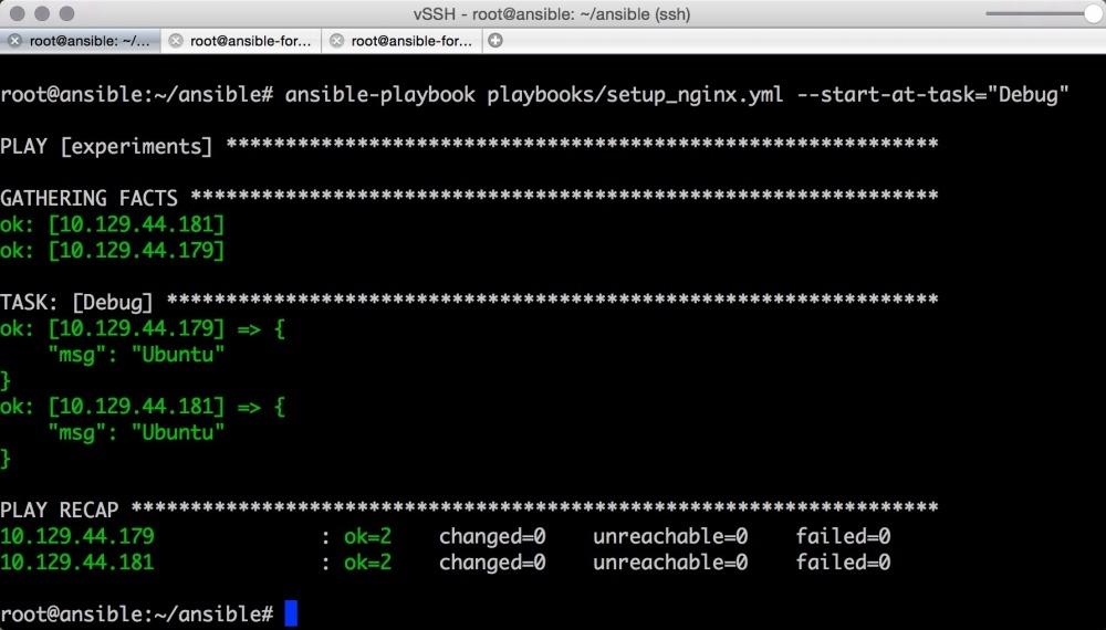 Автоматизируем и ускоряем процесс настройки облачных серверов с Ansible. Часть 2: вывод, отладка, и повторное использование playbook - 10