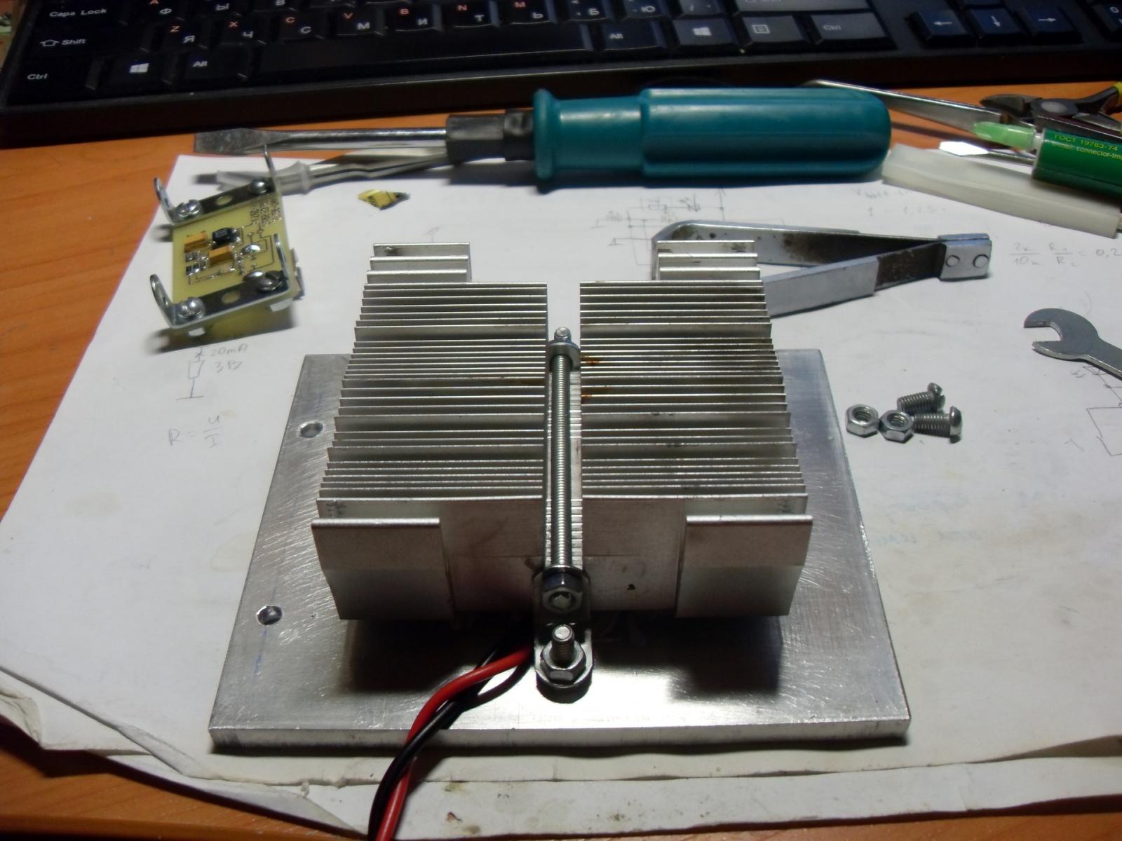 Эксперимент по постройке термоэлектрического генератора на основе элементов Пельтье - 9