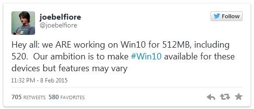 Желание Microsoft похвально и вполне понятно — у значительной части смартфонов с Windows всего 512 МБ памяти