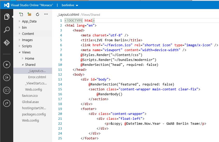 Уменьшаем время разработки и тестирования с Azure Web-Sites и Visual Studio Online - 5