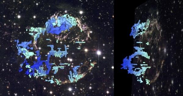 Астрофизики создали трёхмерную модель остатков взрыва сверхновой - 2