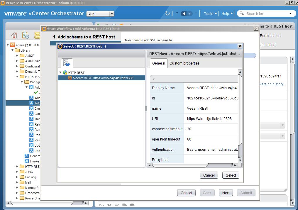 Автоматизация задач резервного копирования с помощью vCenter Orchestrator через Veeam Restful API - 11