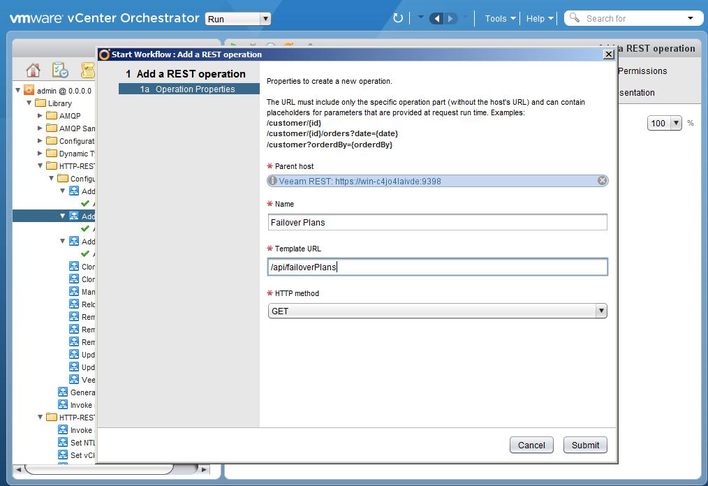 Автоматизация задач резервного копирования с помощью vCenter Orchestrator через Veeam Restful API - 15