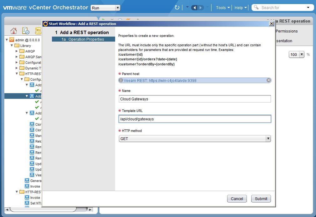 Автоматизация задач резервного копирования с помощью vCenter Orchestrator через Veeam Restful API - 16