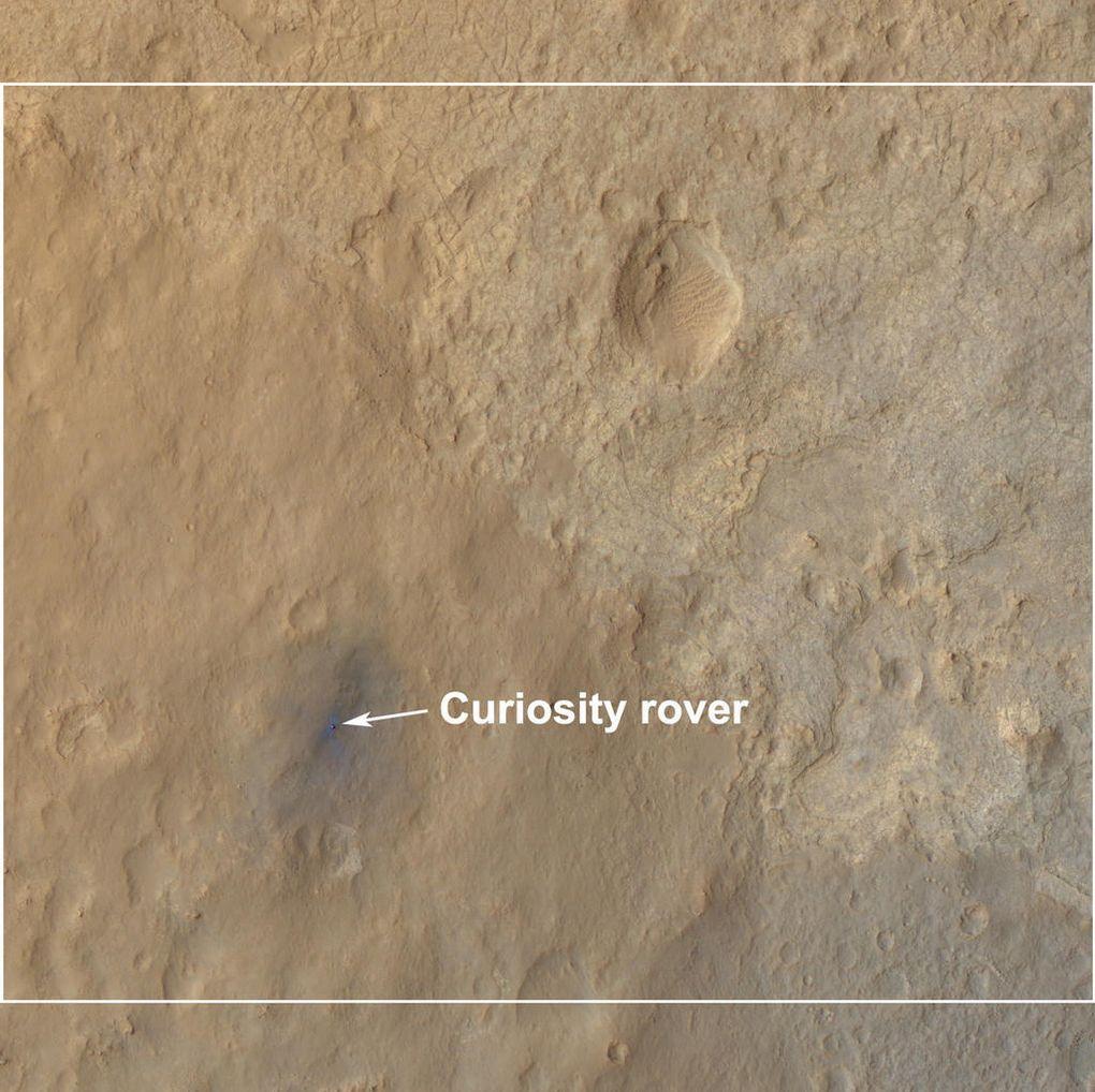 Наблюдаем за Curiosity с орбиты (2012-2015) - 3