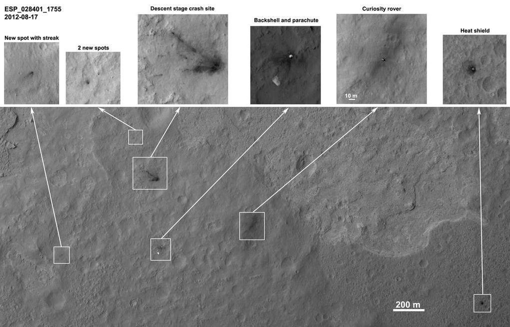 Наблюдаем за Curiosity с орбиты (2012-2015) - 4