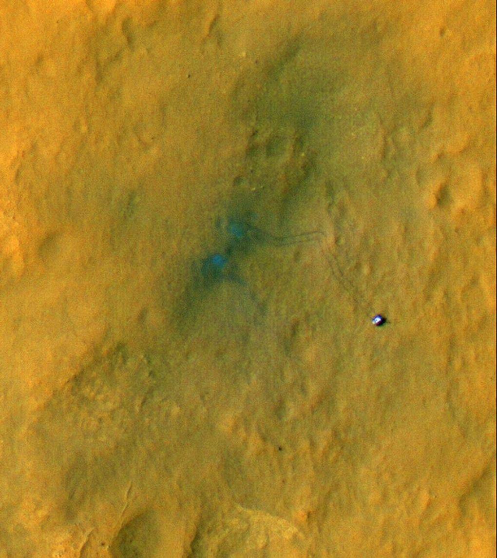 Наблюдаем за Curiosity с орбиты (2012-2015) - 5