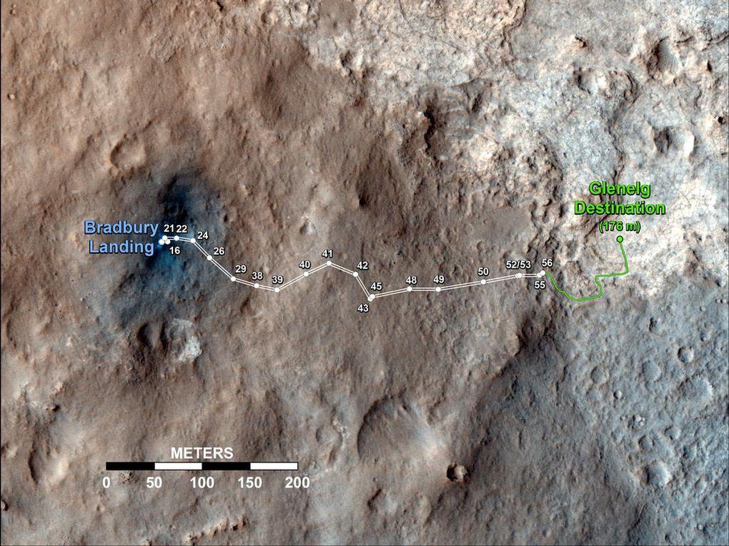 Наблюдаем за Curiosity с орбиты (2012-2015) - 6