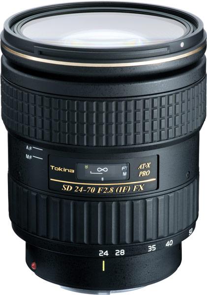 Данных о цене и сроке начала продаж объектива Tokina AT-X 24-70mm F2.8 PRO FX пока нет