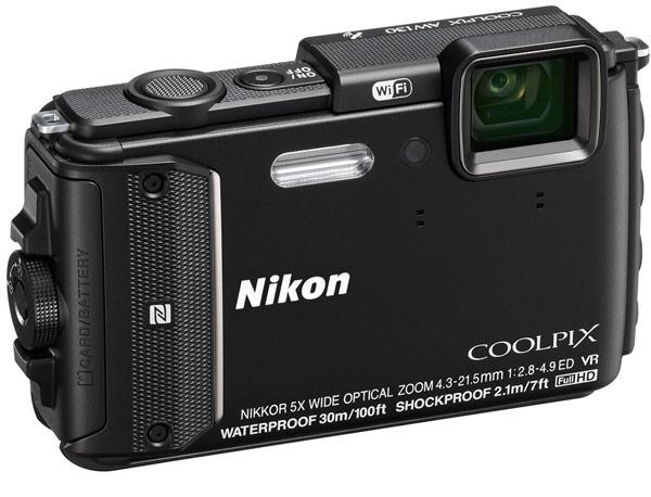 Компактная камера Nikon Coolpix AW130 оснащена GPS и выдерживает погружения на глубину до 30 м
