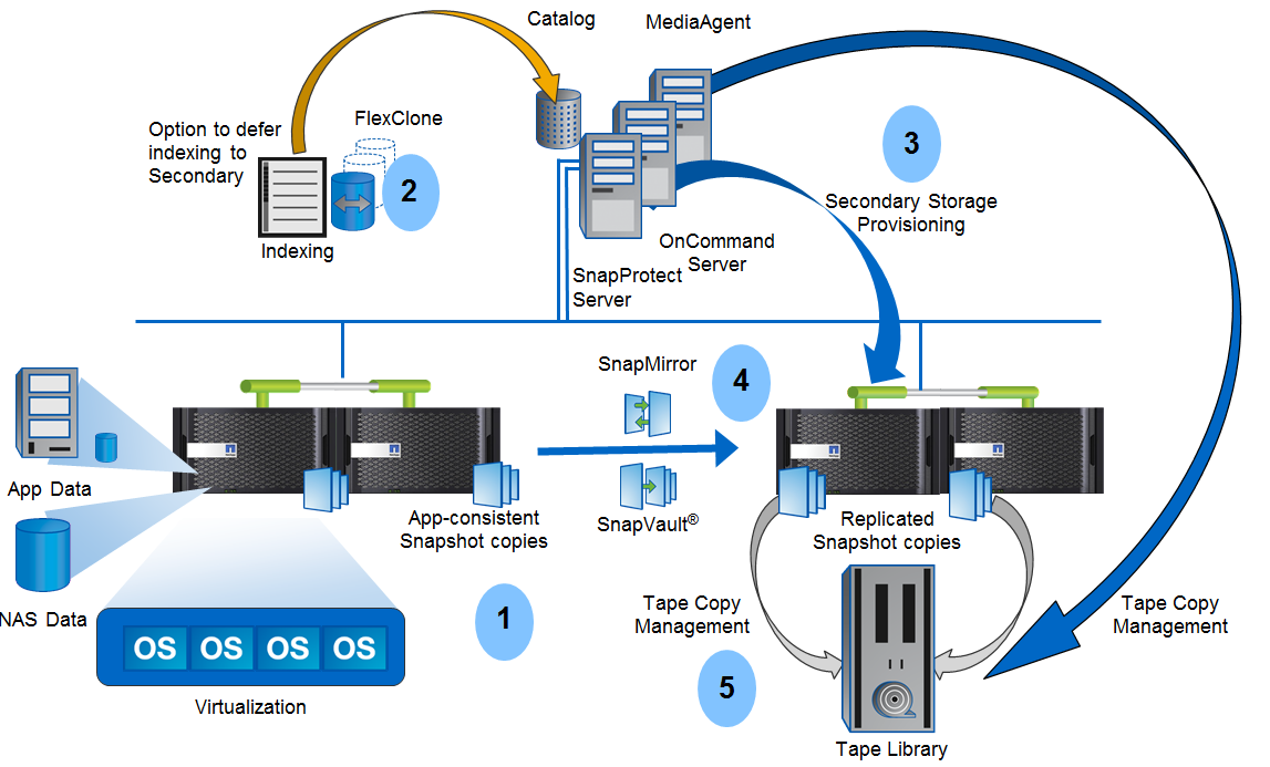 ПО SnapProtect: Архитектура резервного копирования на системах NetApp FAS - 1