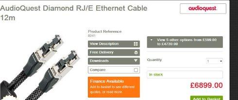 Британцы предлагают Ethernet кабель за $10 500 для аудиофилов