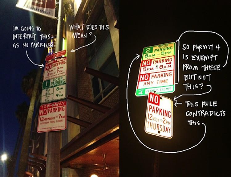Дизайнер воюет с идиотскими знаками парковки в США - 2