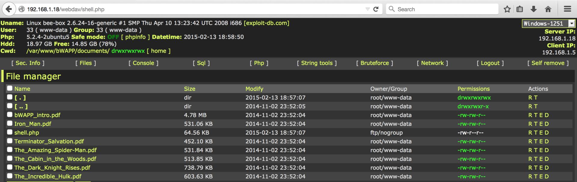 Обзор площадки для тестирования веб-уязвимостей OWASP Top-10 на примере bWAPP - 16