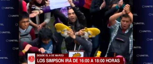 В Боливии прошли массовые протесты из за переноса «Симпсонов» (ВИДЕО)