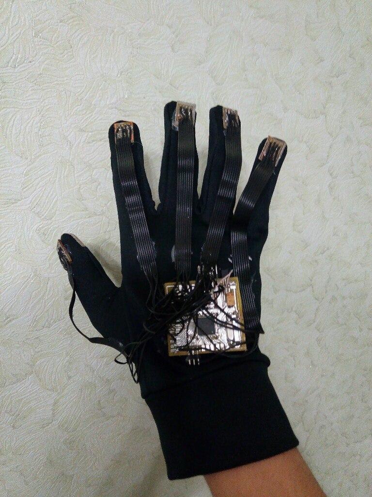 Вторая версия перчатки для определения положения руки - 1