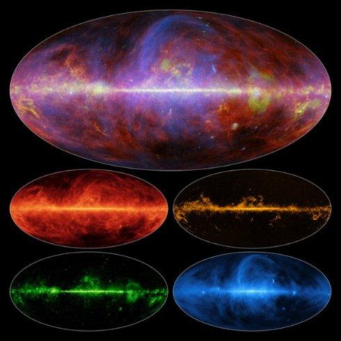 Ученые показали новую карту нашей галактики