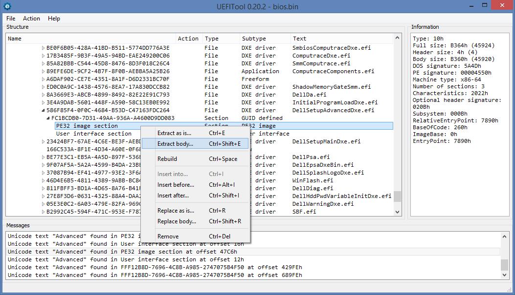 Возвращаем оригинальные страницы меню в Phoenix SCT UEFI - 3