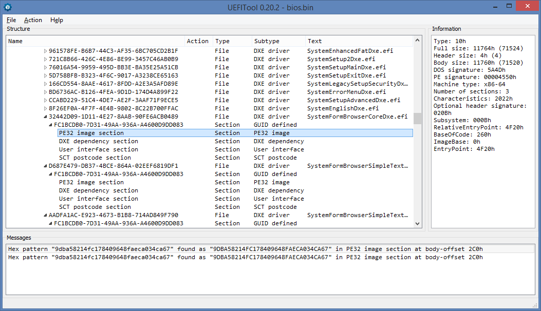 Возвращаем оригинальные страницы меню в Phoenix SCT UEFI - 7