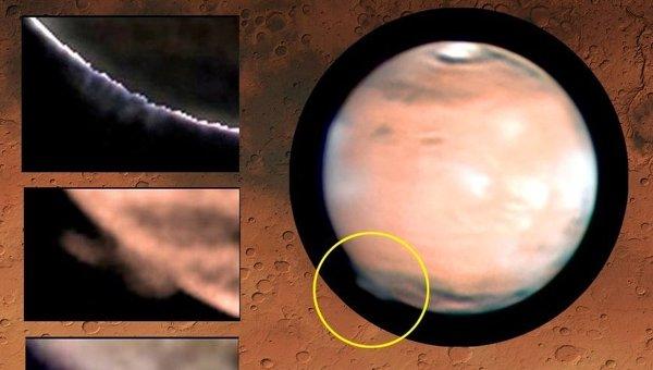 Астрономы пытаются объяснить появление высотных «облаков» на Марсе - 1