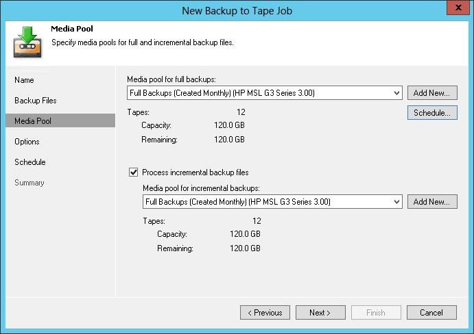 Архивирование на магнитную ленту в Veeam Backup & Replication v8: новое для хорошо знакомого старого - 7