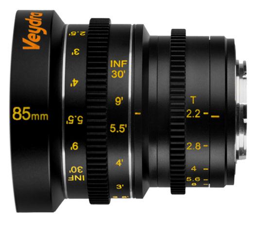 Объектив Veydra Mini Prime 85mm T2.2 системы Micro Four Thirds предназначен для видеосъемки