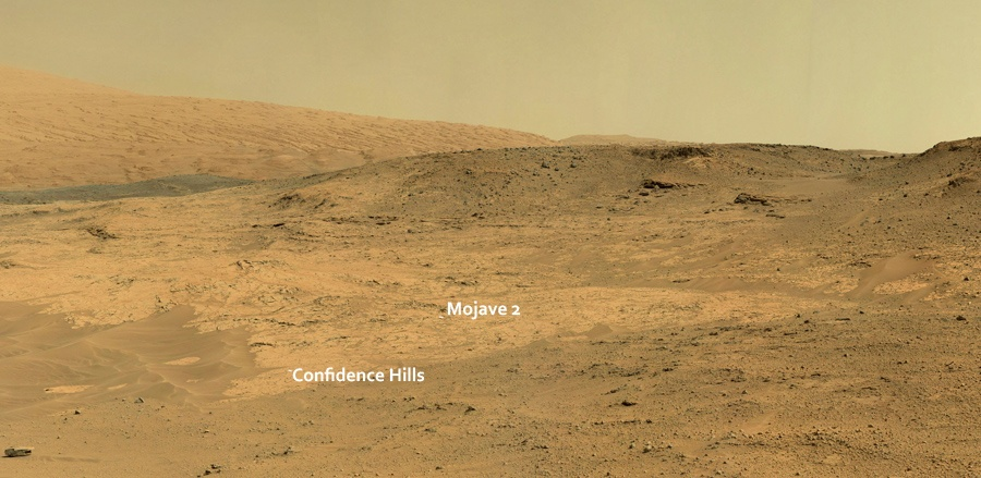Curiosity у подножия горы Шарпа - 11