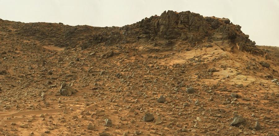 Curiosity у подножия горы Шарпа - 13