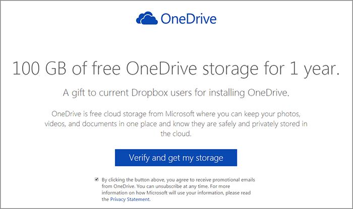 Microsoft дарит OneDrive на 100 ГБ пользователям Dropbox - 2