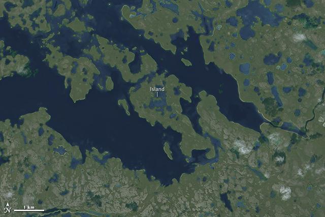 Рекурсивная фотография от NASA: остров в озере на острове в озере на острове - 2