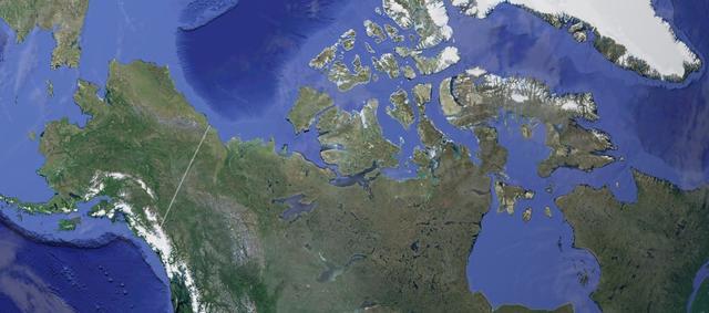 Рекурсивная фотография от NASA: остров в озере на острове в озере на острове - 1