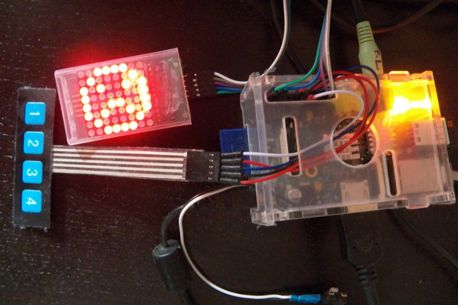 Вывод температуры, пробок и курса валют на светодиодную матрицу Raspberry Pi - 2