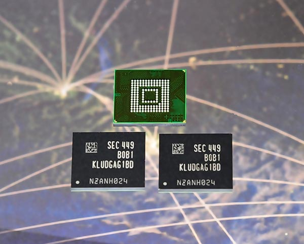 Компания Samsung предлагает встраиваемые накопители UFS объемом 128, 64 и 32 ГБ