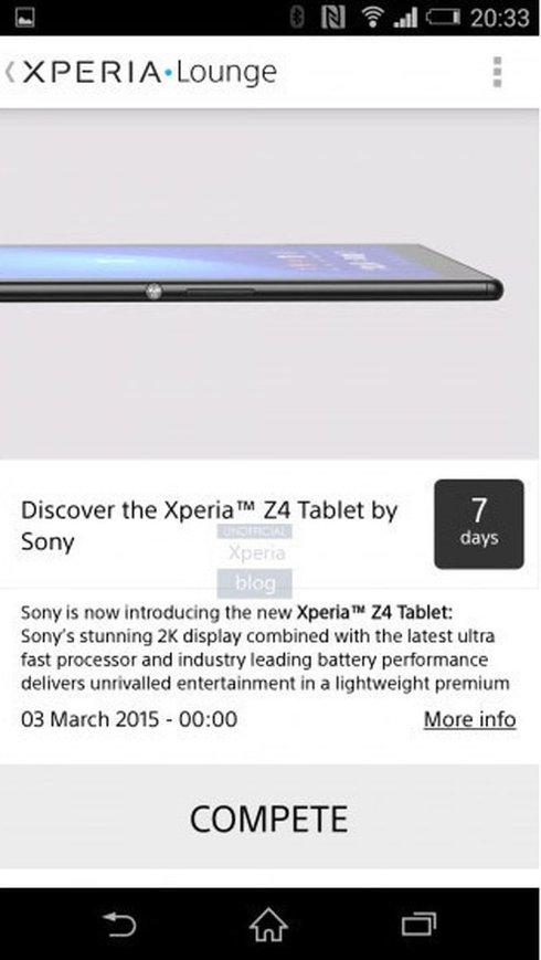 Sony случайно опубликовала изображение своего будущего планшета