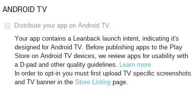Портирование Android-приложения под Android TV и Nexus Player - 4