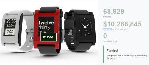 «Умные» часы Pebble Time стали рекордсменом Kickstarter