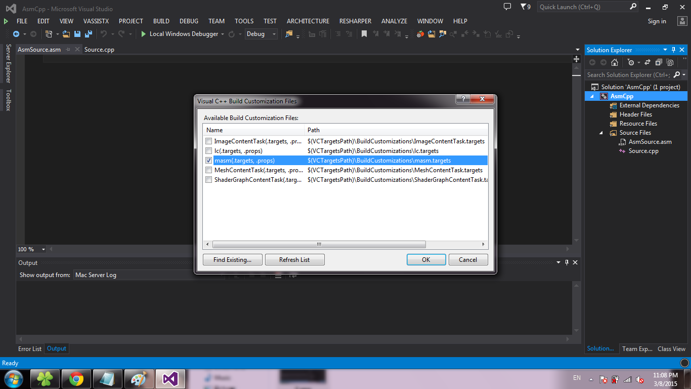 Assembler вместе с C++ в Visual Studio 2013 - Версия для печати - PVSM.RU