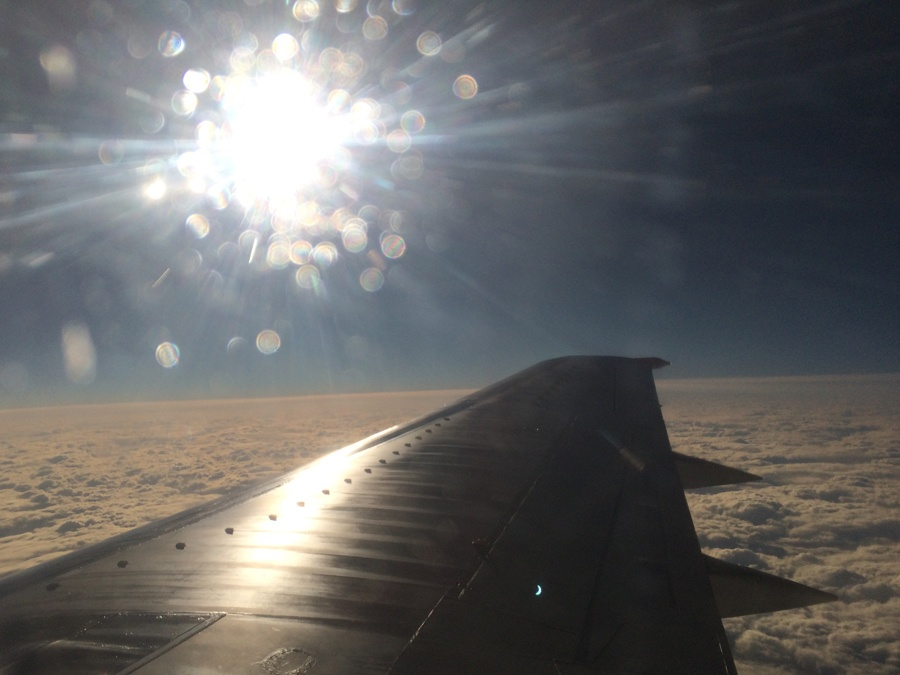 Солнечное затмение с воздуха и из космоса - 21