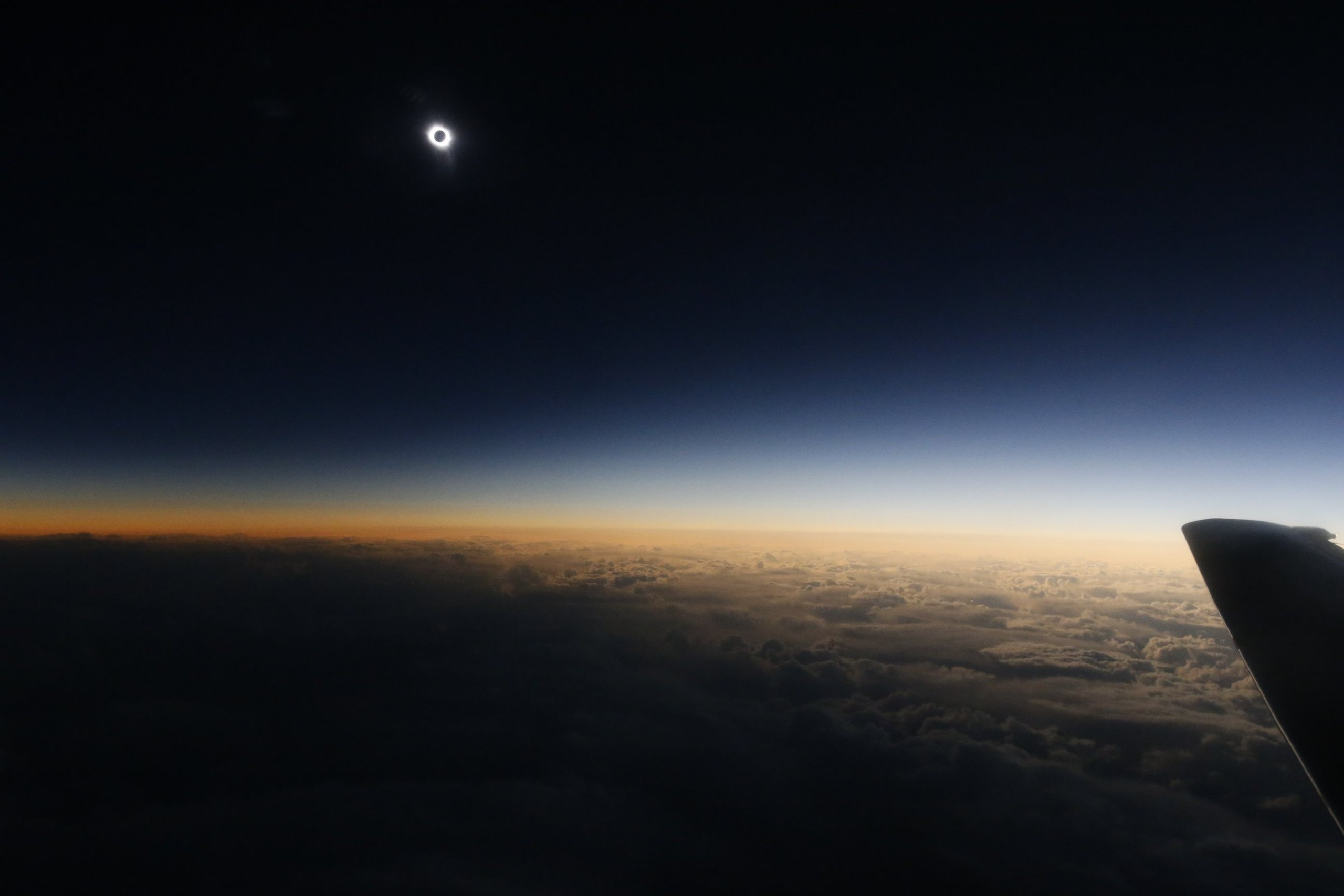 Солнечное затмение с воздуха и из космоса - 25