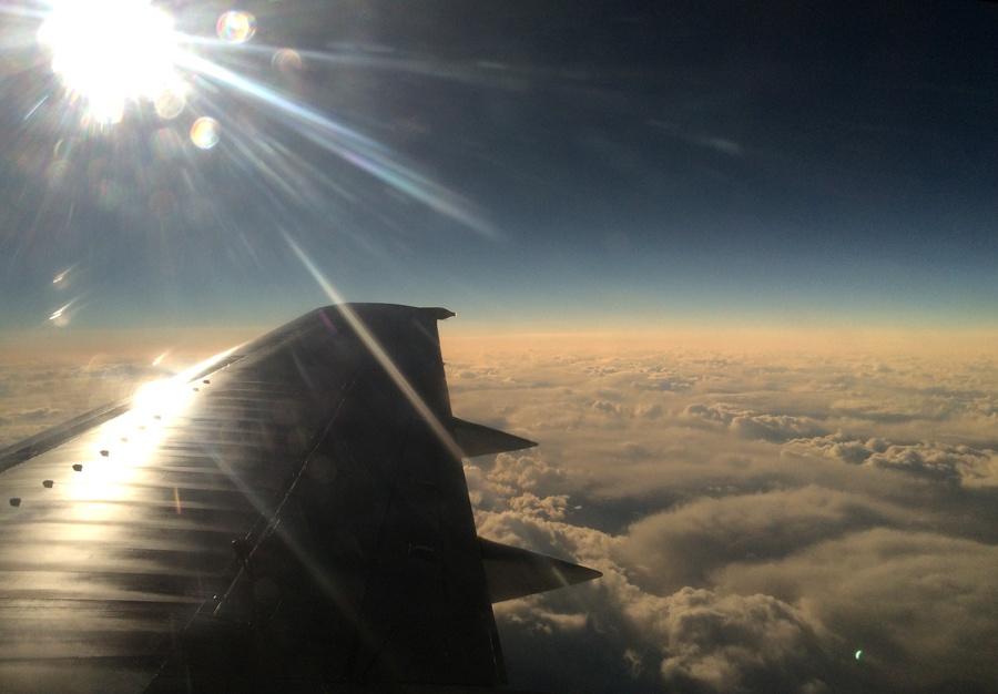 Солнечное затмение с воздуха и из космоса - 28