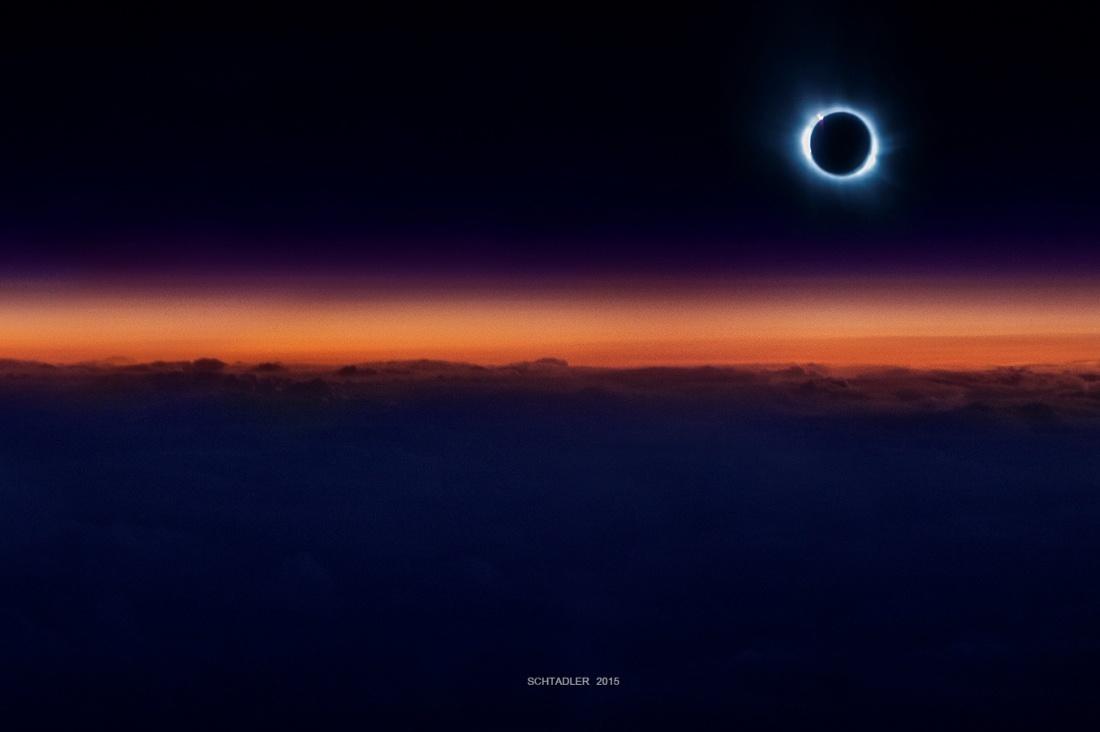 Солнечное затмение с воздуха и из космоса - 1