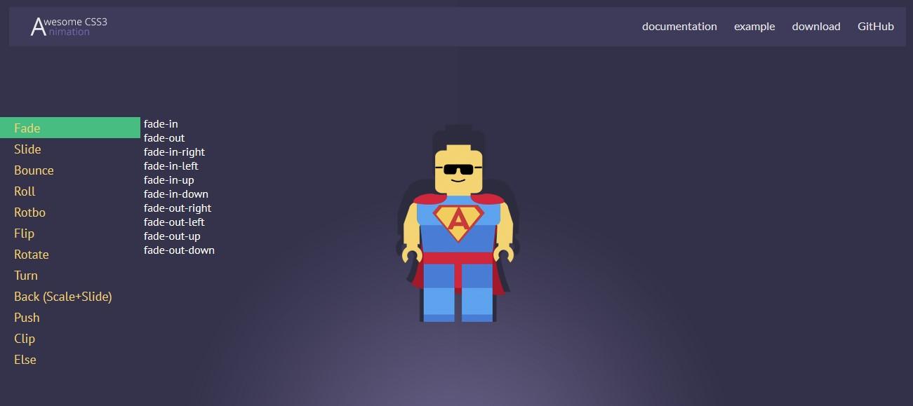 Awesome CSS3 — библиотека CSS3 анимации - 1