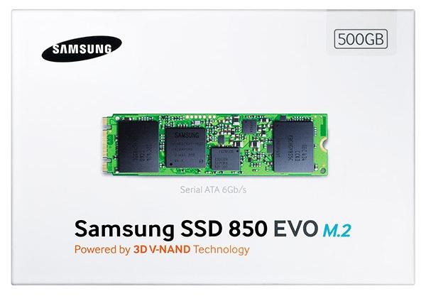 Samsung 850 EVO типоразмера M.2