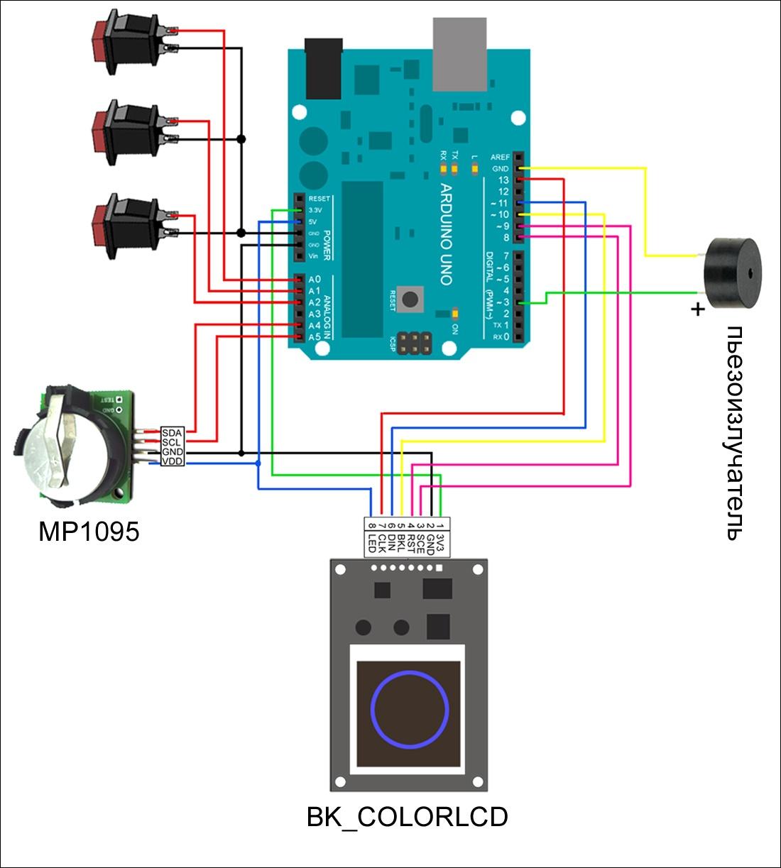 Будильник в технодизайне — настольные часы на основе Arduino - 7