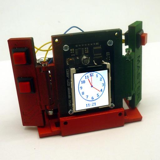 Будильник в технодизайне — настольные часы на основе Arduino - 1